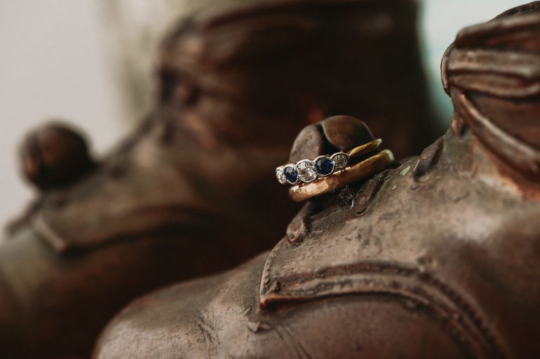 Wedding rings at Foxfire Mountain House